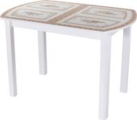 Обеденный стол Домотека Танго ПО-1 80x120-157 (ст-72/белый/04) -
