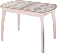 Обеденный стол Домотека Танго ПО-1 80x120-157 (ст-71/молочный дуб/07) -