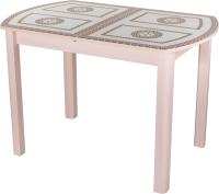 Обеденный стол Домотека Танго ПО-1 80x120-157 (ст-71/молочный дуб/04) -