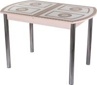 Обеденный стол Домотека Танго ПО-1 80x120-157 (ст-71/молочный дуб/02) -