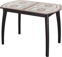 Обеденный стол Домотека Танго ПО-1 80x120-157 (ст-71/венге/07) -