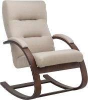 Кресло-качалка Импэкс Leset Милано (орех текстура/малмо 05/бежевый) -