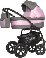 Детская универсальная коляска Riko Mario 3 в 1 (02/розовый) -