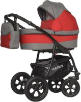 Детская универсальная коляска Riko Mario 3 в 1 (03/красный) -