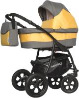 Детская универсальная коляска Riko Mario 3 в 1 (06/желтый) -