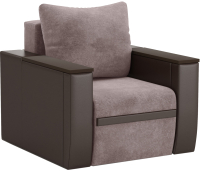 Кресло мягкое Sofos Атика NEW Тип D нераскладное (Cortex Latte/Teos Dark Brown/венге) -