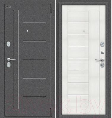 Входная дверь el'Porta Porta S 109.П29 Антик серебристый/Bianco Veralinga (88x205, правая)
