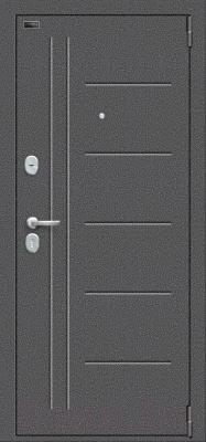 Входная дверь el'Porta Porta S 109.П29 Антик серебристый/Bianco Veralinga (98x205, правая)