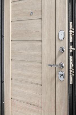 Входная дверь el'Porta Porta S 109.П29 Антик серебристый/Cappuccino Veralinga (88x205, левая)