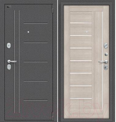 Входная дверь el'Porta Porta S 109.П29 Антик серебристый/Cappuccino Veralinga (88x205, правая)