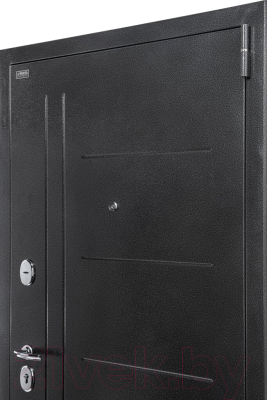 Входная дверь el'Porta Porta S 109.П29 Антик серебристый/Cappuccino Veralinga (98x205, правая)