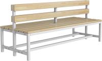 Скамейка для раздевалки ТитанМетаБел Р3 (2м) -