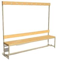 Скамейка для раздевалки ТитанМетаБел Р4 (1.5м) -