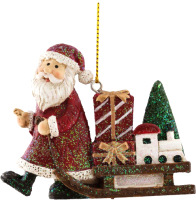 Елочная игрушка Erich Krause Decor Санки Деда Мороза / 45918 -