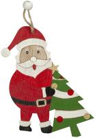 Елочная игрушка Erich Krause Decor Санта с елкой / 47749 -