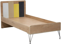 Односпальная кровать Аквилон Александрия №12 90x200 (дуб ирландский U31156) -