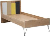 Полуторная кровать Аквилон Александрия №14 120x200 (антрацит/дуб ирландский) -