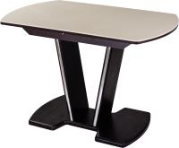 Обеденный стол Домотека Румба ПО-1 80x120-157 (бежевый/венге/03) -