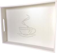 Поднос Yulisa Кружка кофе / AG-00018 (белый) -