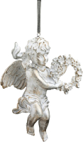 Елочная игрушка Erich Krause Decor Ангелок мраморный / 44792 -