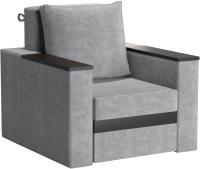 Кресло мягкое Sofos Браун нераскладное Тип A (Nevada Ash/венге) -