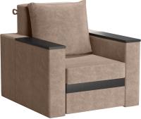 Кресло мягкое Sofos Браун нераскладное Тип A (Nevada Latte/венге) -