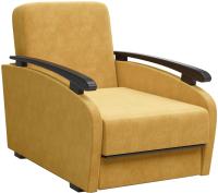 Кресло мягкое Sofos Оскар нераскладное Тип A (Dallas Yellow/орех 91) -