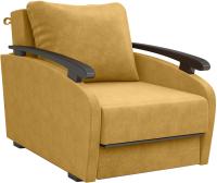 Кресло-кровать Sofos Оскар раскладное Тип A (Dallas Yellow/орех 91) -
