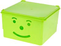 Ящик для хранения Полимербыт Улыбка 830-83000 (зеленый) -