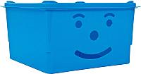 Ящик для хранения Полимербыт Улыбка 830-83000 (голубой) -