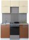 Готовая кухня Интерлиния Мила Gloss 50-15 (ваниль/шоколад) -