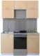 Готовая кухня Интерлиния Мила Gloss 50-15 (капучино) -