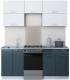 Готовая кухня Интерлиния Мила Gloss 50-18 (белый/асфальт) -