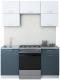 Готовая кухня Интерлиния Мила Gloss 60-16 (белый/асфальт) -
