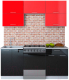 Готовая кухня Интерлиния Мила Gloss 60-18 (красный/черный) -
