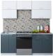 Готовая кухня Интерлиния Мила Gloss 60-20 (белый/асфальт) -
