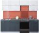 Готовая кухня Интерлиния Мила Gloss 60-24 (белый/асфальт) -