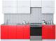 Готовая кухня Интерлиния Мила Gloss 60-28 (белый/красный) -