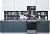Готовая кухня Интерлиния Мила Gloss 60-30 (белый/асфальт) -
