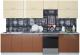 Готовая кухня Интерлиния Мила Gloss 60-30 (ваниль/шоколад) -