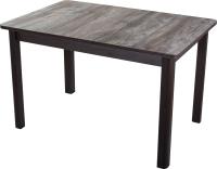 Обеденный стол Домотека Джаз ПР-М 60x88-125 (орех темный/венге/04) -