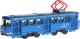 Трамвай игрушечный Технопарк SB-16-66-BL-WB -