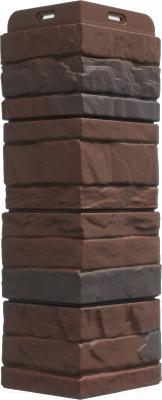 Угол для фасадной панели Docke Stein (темный орех)