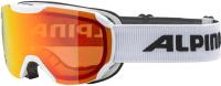 Маска горнолыжная Alpina Sports Thaynes HM / A72708-11 (белый/оранжевый) -