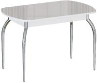Обеденный стол Империал Босфор (белый/стекло белый) -