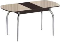 Обеденный стол Империал Босфор (венге/стекло бежевый) -