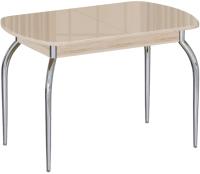 Обеденный стол Империал Босфор (дуб сонома/стекло бежевый) -