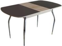 Обеденный стол Империал Босфор (дуб сонома/стекло шоколад) -