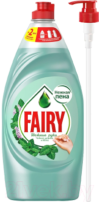 Средство для мытья посуды Fairy Oxi Чайное дерево + дозатор (900мл)