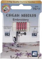 Иглы для швейной машины Organ Top 5/75 Embr (вышивальные) -